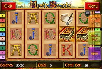 The mobile version of the slot Mystic Secrets