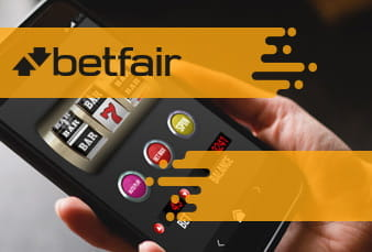 A QR code on top of a mobile slot from Betfair
