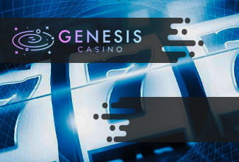 The Genesis Casino landing page with scanable QR code