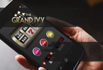 The Grand Ivy games lobby with scanable QR code