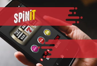 A Spinit casino image along with scanable QR code.