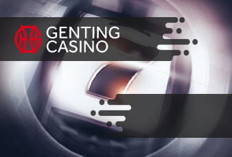 A QR code placed on top of a mobile slot game from Genting casino