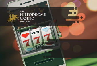 A QR leading to Hippodrome with a slot from the operator in the background
