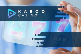 The Kaboo website on mobile, with an overlay QR code