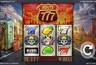 The mobile slot Route 777 at bwin casino