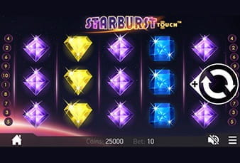 The Starburst mobile slot playable at Casumo