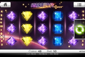 Starburst can be Played on the CasinoCruise App