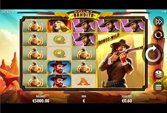 A mobile slot game Sticky Bandits from Guts Casino