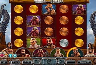 The Vikings go Berzerk mobile slot