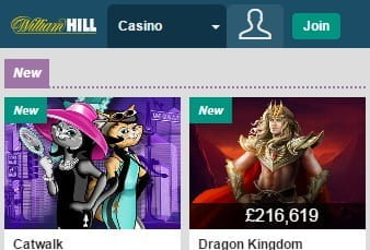 The Mobile Game Lobby on the William Hill App