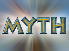 The Myth slot game logo and free demo.