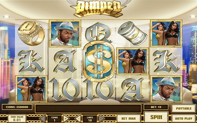 A preview of the slot game Pimped.