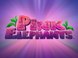The Pink Elephants slot game logo.
