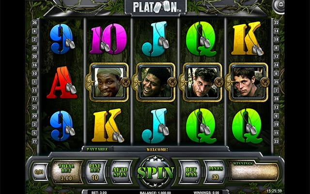 Platoon, the slot based on the 80's groundbreaking war film.