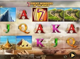a preview of the 7 Great Wonders slot at 888casino