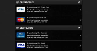 Payment Methods available at CasinoCruise