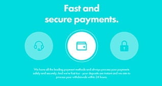 Fast and secure payment disclaimer at Dunder