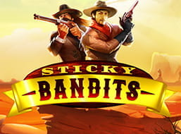Image of the Sticky Bandits slot game.