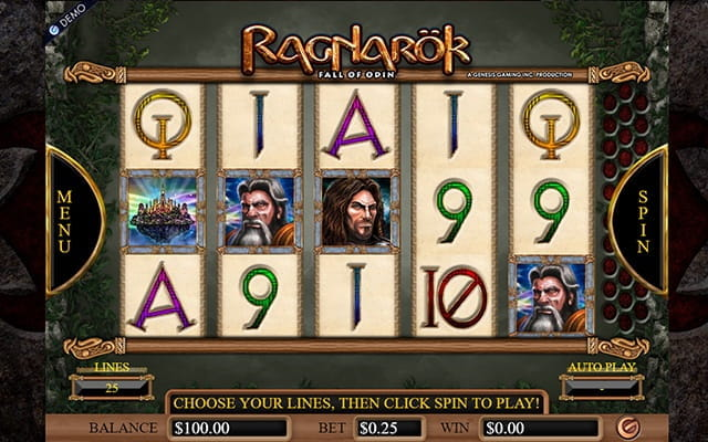 A preview of the Raganarök video slot.
