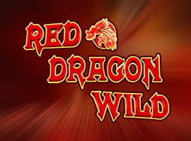 Red Dragon Wild slot game logo and demo prompt.