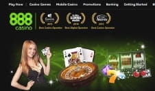The Home Page of the 888casino Website