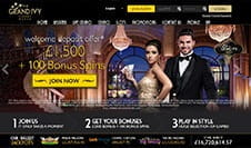 The Grand Ivy Casino homepage
