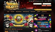 The homepage of Videoslots Casino