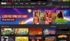 The Homepage of the NetBet Casino Website