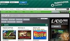 Paddy Power Casino Website