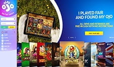 The PlayOJO casino homepage