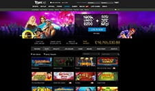 Homepage of Titanbet Casino
