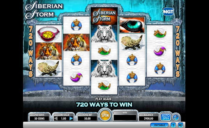 Siberian Storm Slot Game by IGT