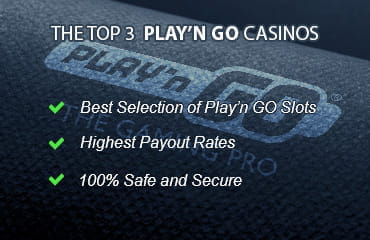 Criteria of the top 3 Play'n GO online casinos: best selection of slots, high RTPs, secure online casino website.