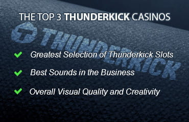 The Top 3 Thunderkick Casinos. Greatest Selection of Thunderkick Slots. Best Sounds in the Business. Overall Visual Quality and Creativity.
