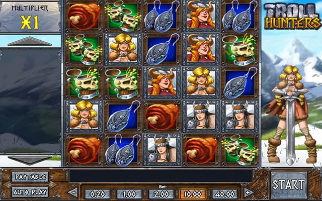 A preview of the Troll Hunters video slot game.