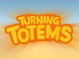The Turning Totems slot game logo.