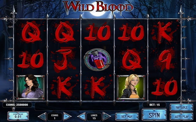 A preview of the slot game Wild Blood.