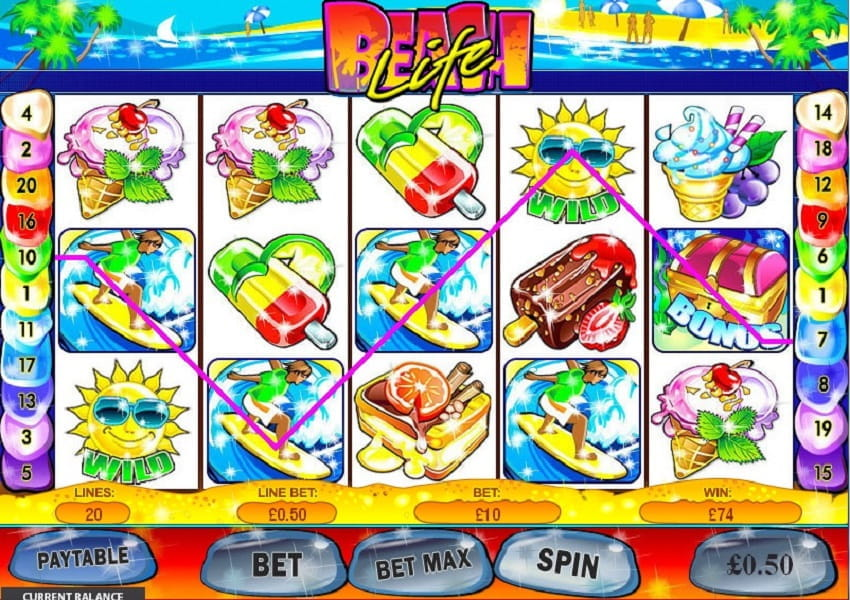 Beach Life Slot by Playtech