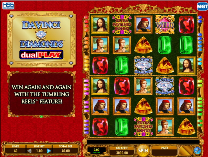 Da Vinci Diamonds Dual Play Slot from IGT