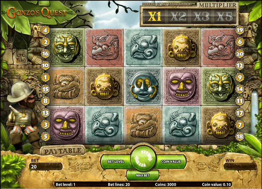Gonzo's Quest Slot by NetEnt