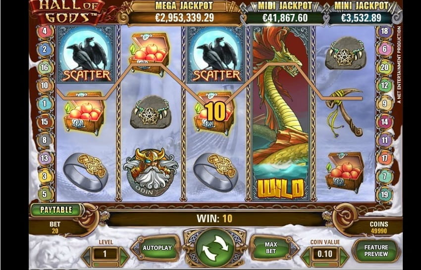 Hall of Gods Slot by NetEnt