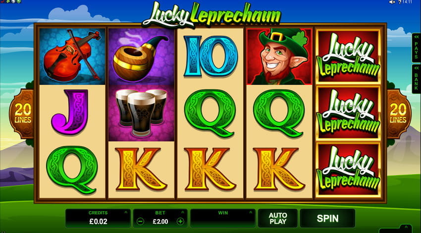 Lucky Leprechaun Slot from Microgaming