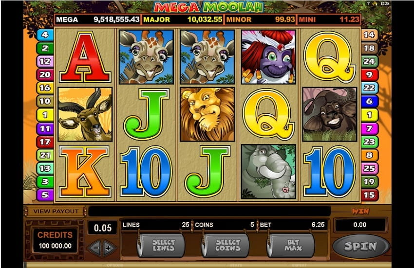 Mega Moolah Slot by Microgaming