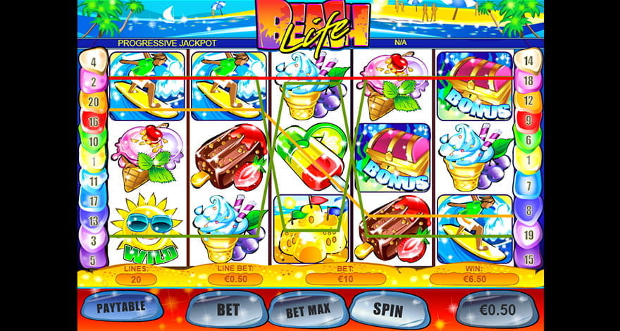 Beach Life Slot from Playtech