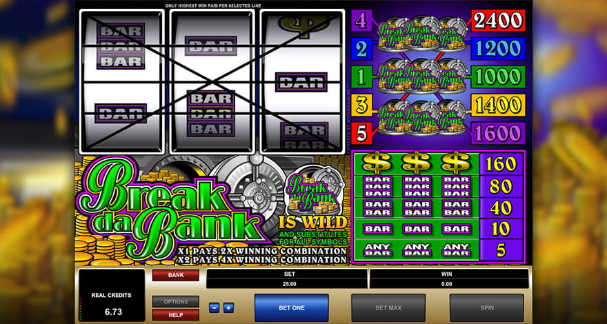 Break Da Bank Microgaming Slot