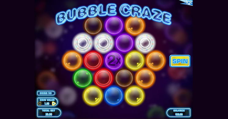 Bubble Craze is an Unusual Slot