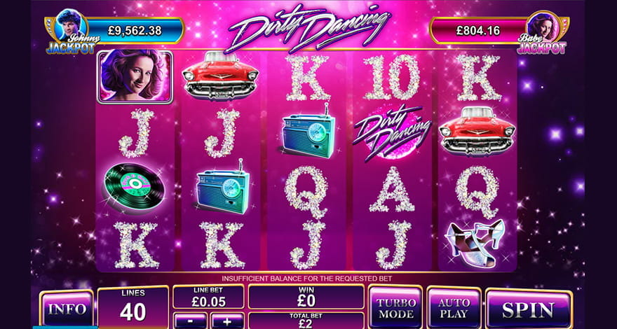 Take to the dance floor with dirty dancing slots 777 jackpot wild