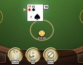 Double Down Option in Blackjack