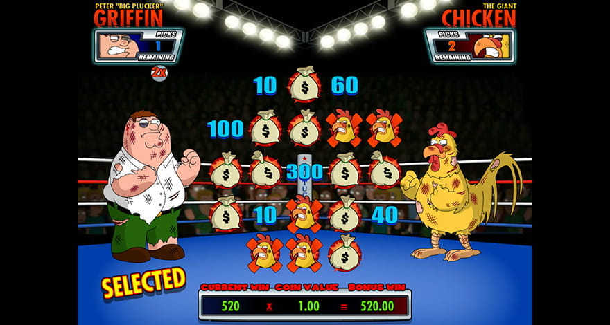 Family Guy Chicken Fight Bonus