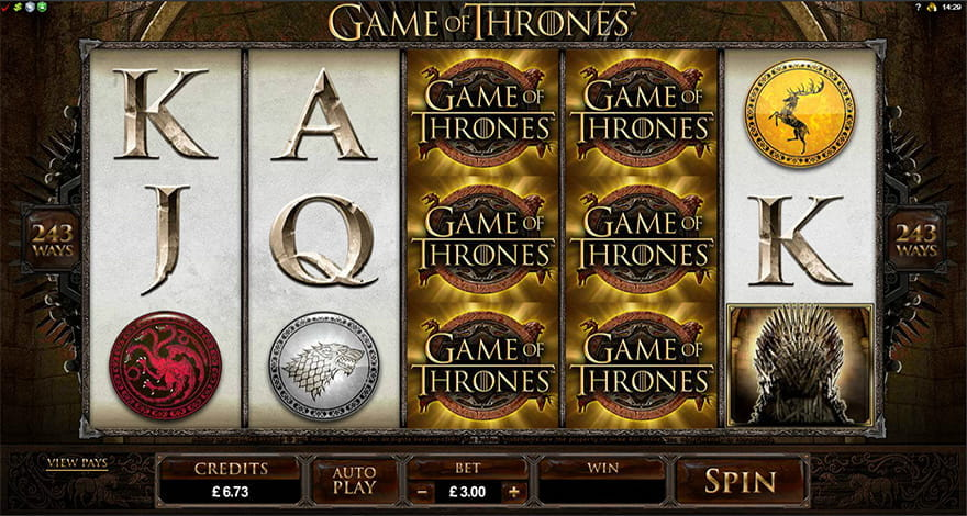 Game of Thrones Video Slot